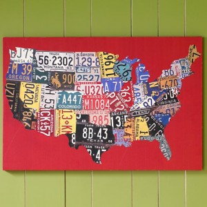 Kids License Plate Canvas Wall Art from The Land of Nod