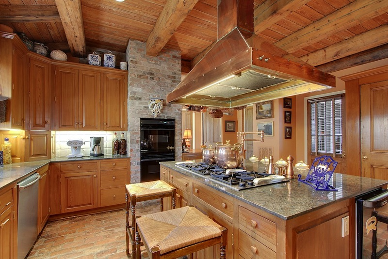 A. Hays Town, kitchen, antique cypress beams