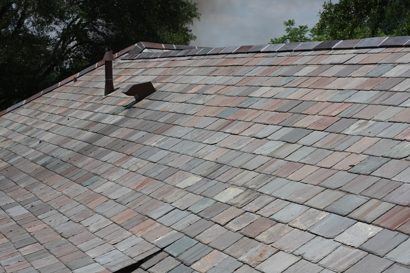 Slate Roof, ridge tiles, A. Hays Town