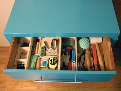 Organized Drawer with Tools