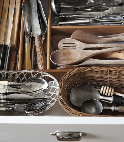 Organized Essential Kitchen Utensils