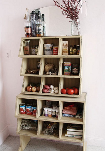 Temporary Makeshift Pantry