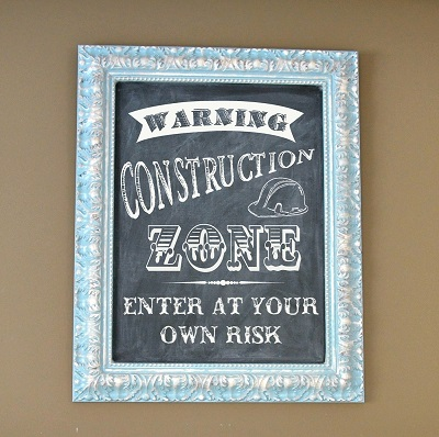Warning - Construction Zone