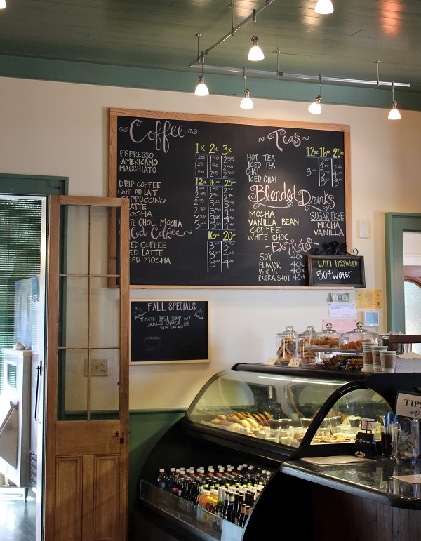 Chalkboard; Menu; Coffeehouse; Coffee