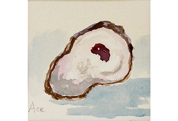 Oyster Shell; Gulf of Mexico; Art; Painting; One Kings Lane