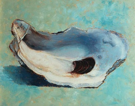 Oyster Shell; Painting; Art; Pam Talley; Fine Art America