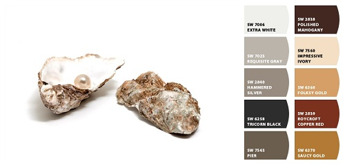 Oyster Shell; Art; Pearl; Ursula Alter; Fine Art America; Sherwin Williams; paint