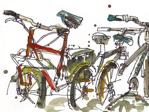 Back to School, Bicycle Art