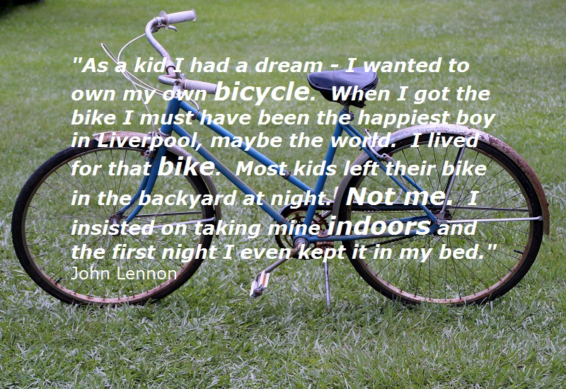Bicycle Quote by John Lennon
