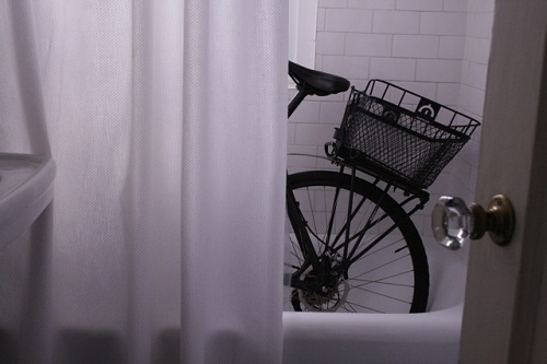 Bike in Bathtub