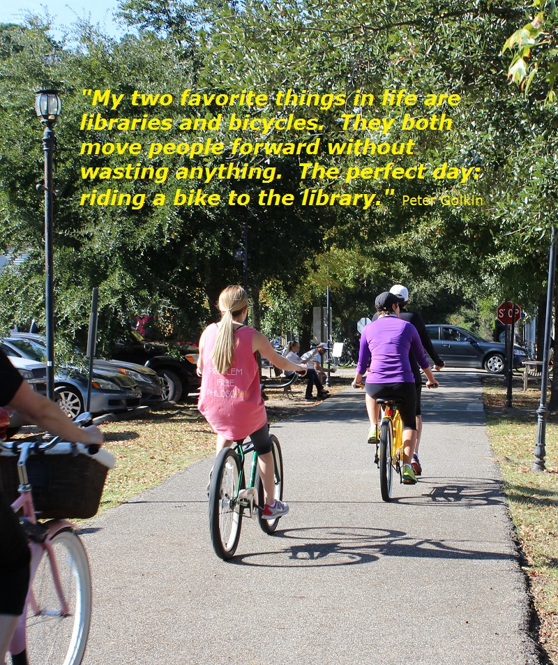Bicycle riding; Tammany Trace; Peter Golkin quote