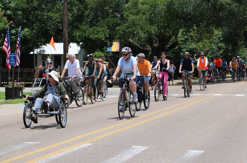 Cyclists; Louisiana Bicycle Festival; Abita Springs
