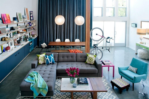 Living Area with Bike