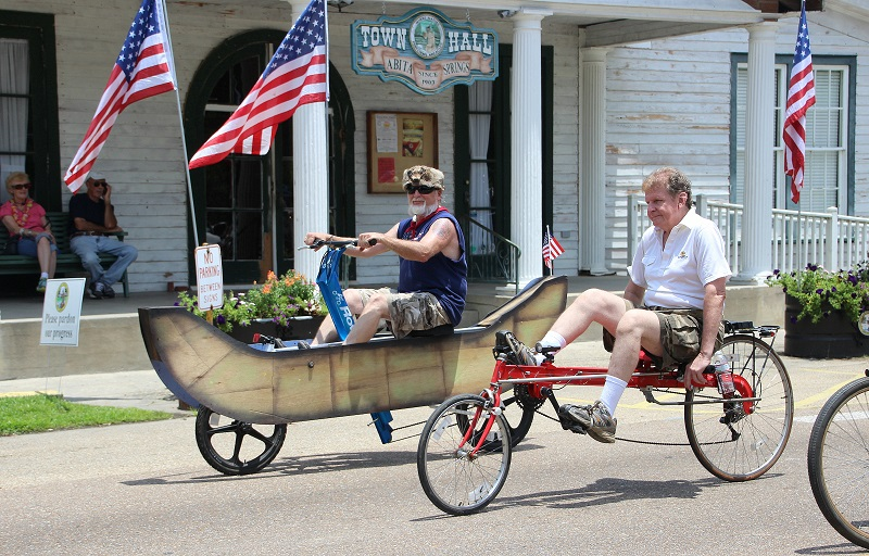 canoe-bike; Abita Springs; Louisiana Bicycle Festival