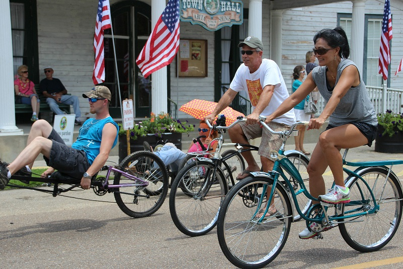 Louisiana Bicycle Festival; Abita Springs Town Hall