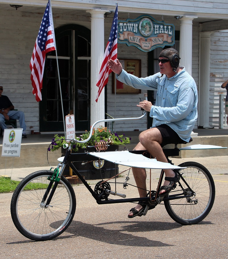 Ornithopter Bike; Abita Springs; Louisiana Bicycle Festival