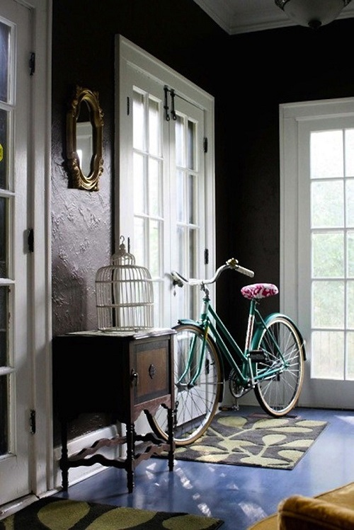 Apartment Foyer with Bike