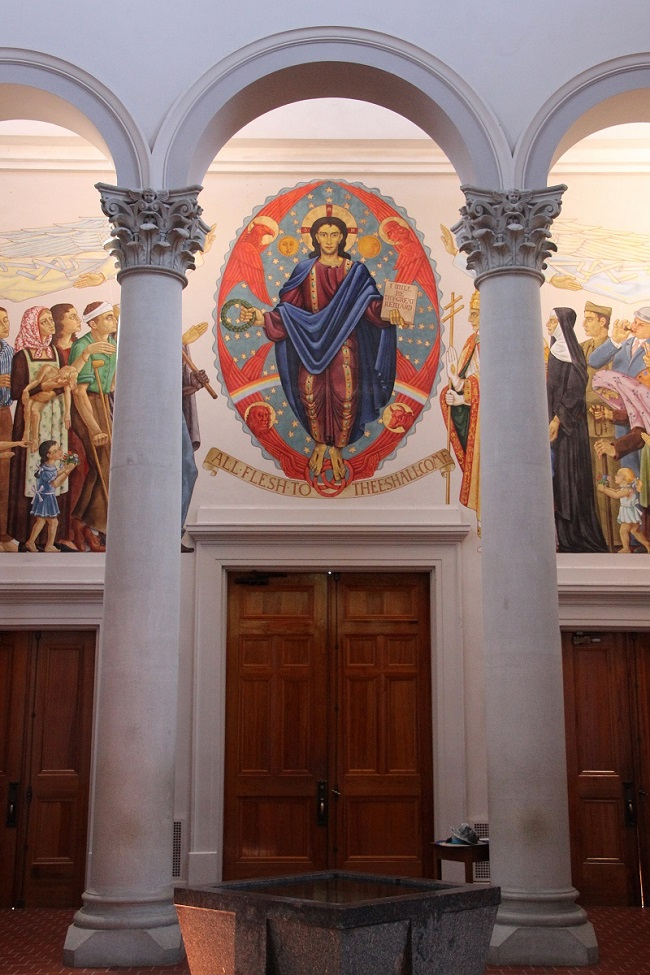 Mural over Entrance Doors in St Joseph Abbey Church