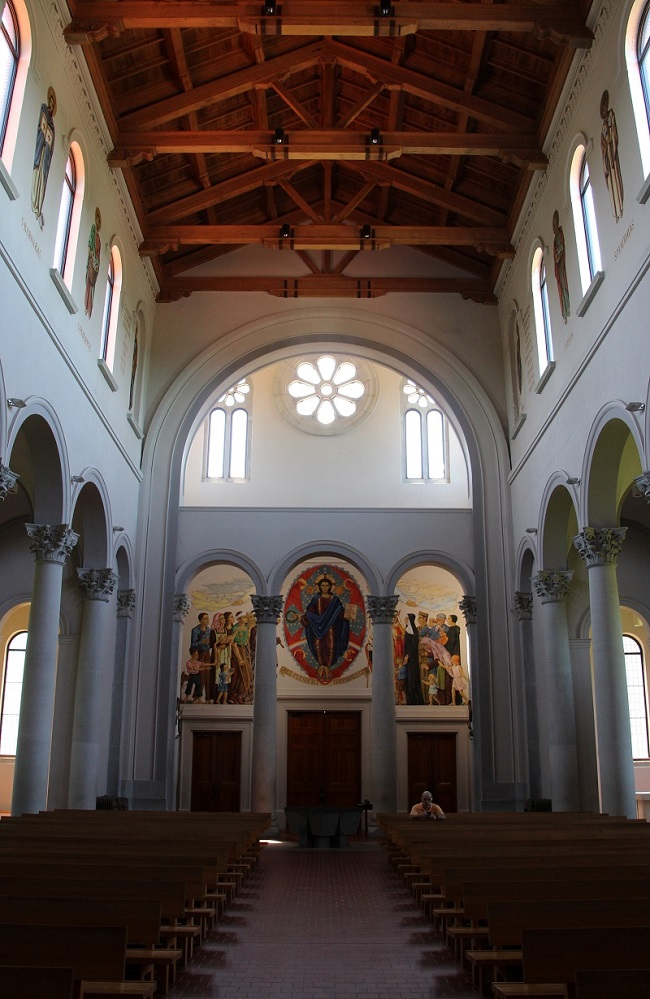 Interior View from the Alter at St Joseph Abbey Church