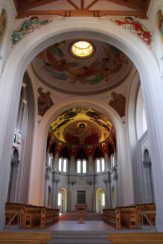 Interior View of the Domed-Apse in the St. Joseph Abbey Church