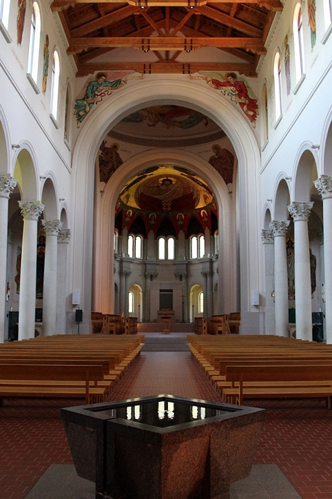 Interior of St Joseph Abbey Church near Covington, Louisiana