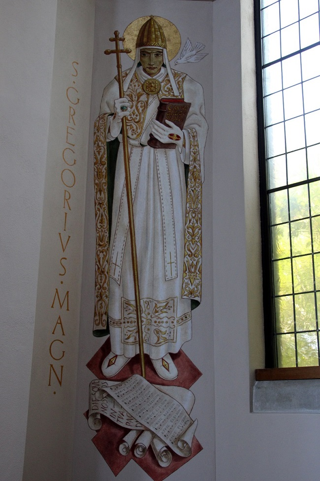 Mural Painting of Pope Saint Gregory the Great, Patron Saint of Teachers