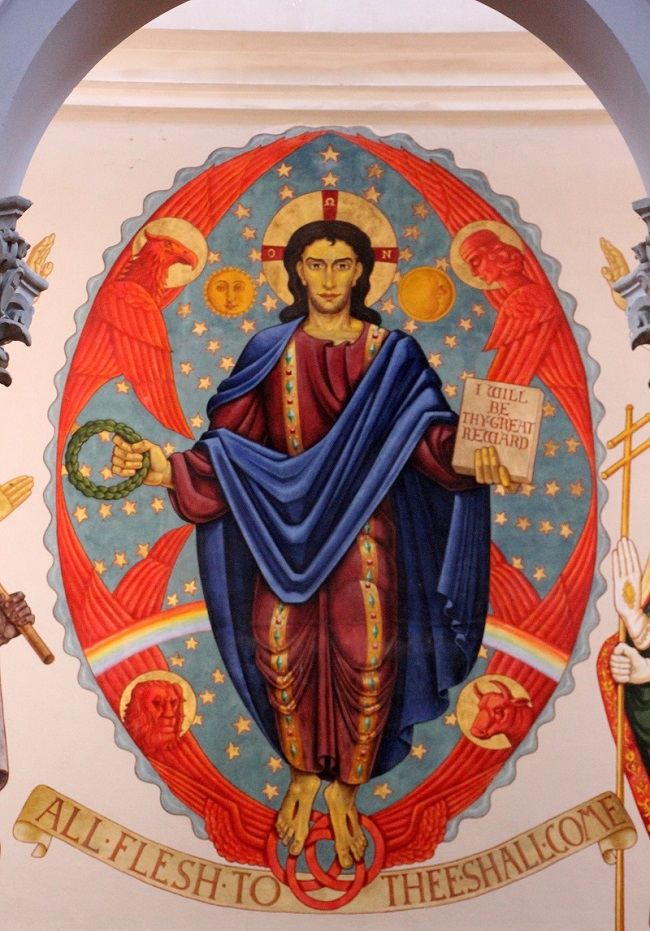Mural of Jesus in St Joseph Abbey Church