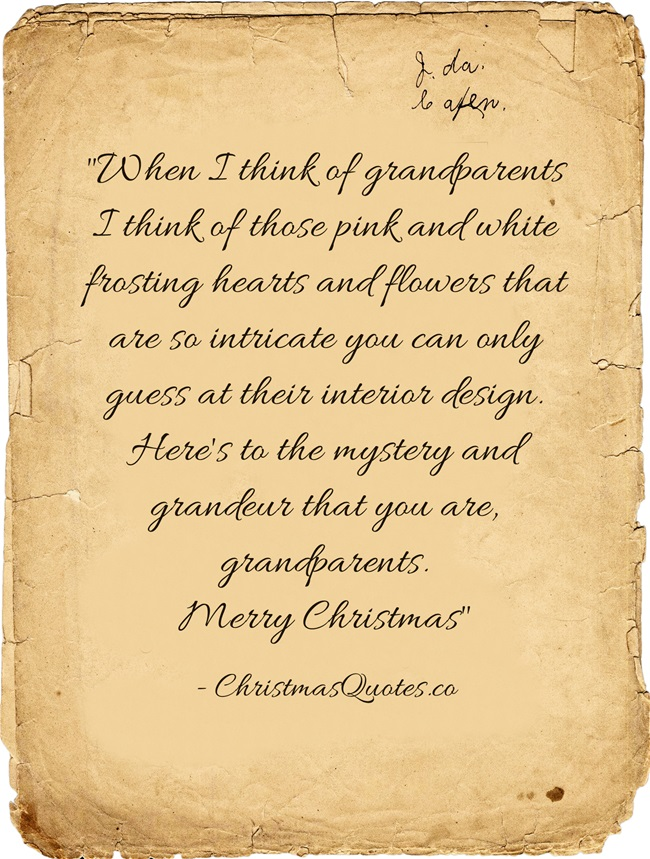 Christmas Quotes About Grandparents