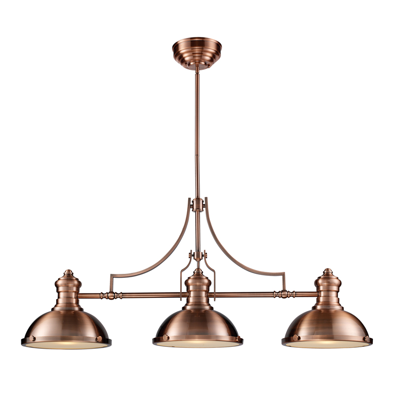 Scrapbook Room Light - Elk Lighting, Chadwick Island Light in Antique Copper Finish