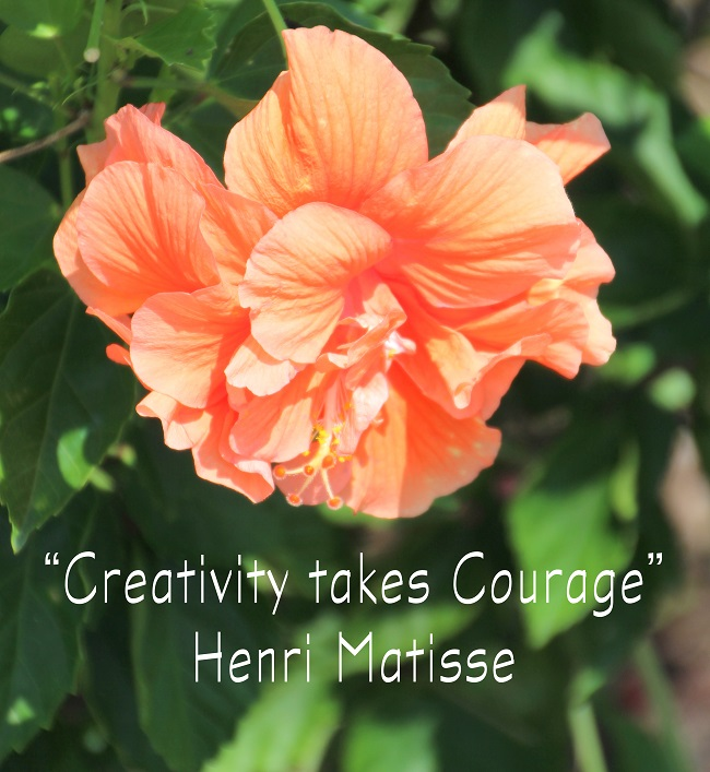 Creativity takes Courage - quote by Henri Matisse, perfect for a Scrapbook Room