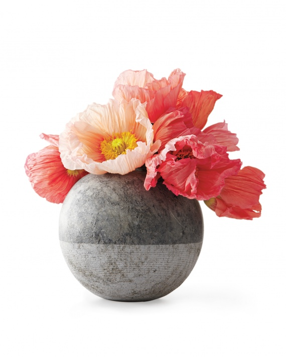 Ruby Beets Brazilian Hand-cut Soapstone flowers vase, perfect for a Scrapbook room or Hostess gift, via Martha Stewart