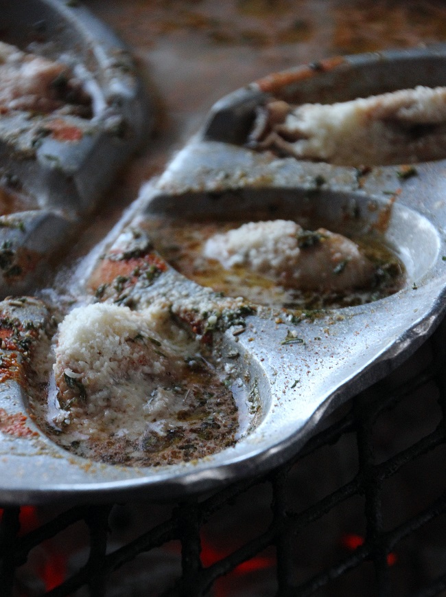 Grilled Oysters on The Oyster Bed, Le Petite