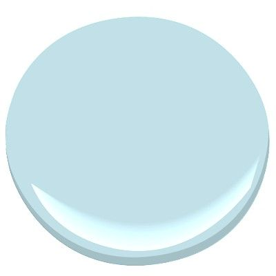 Benjamin Moore Blue Allure 771, a light Haint Blue color for a porch ceiling