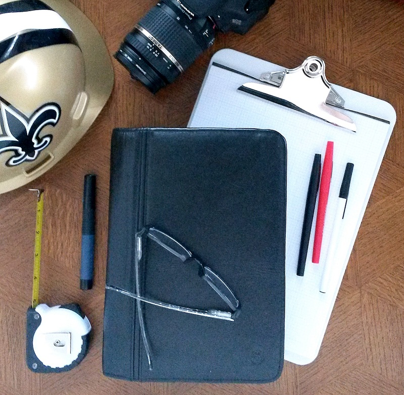Personal Planner Setup - Franklin Planner with Architectural Meeting Supplies