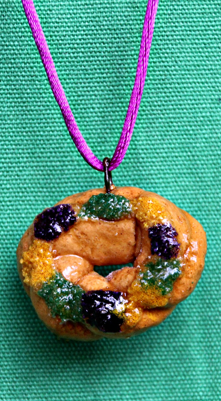 King Cake Pendant by Crescent City Ornaments