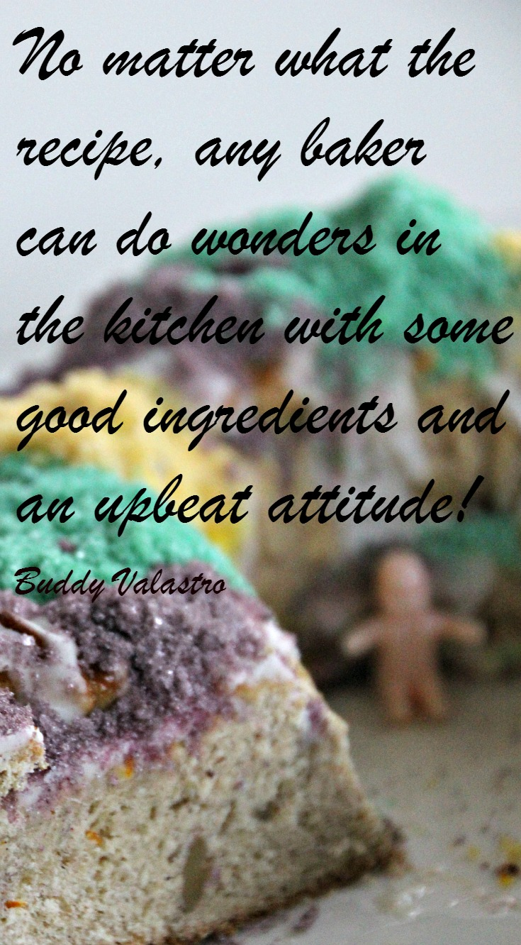 King Cake recipe and a Buddy Valastro quote