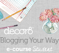 decor8 Blogging Your Way e-course student badge; Holly Becker