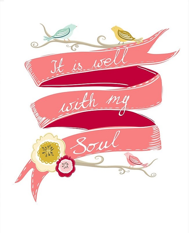It is well with my soul. printable, wall decor, scripture art, spiritual printable, hymn, glorydesigns etsy shop