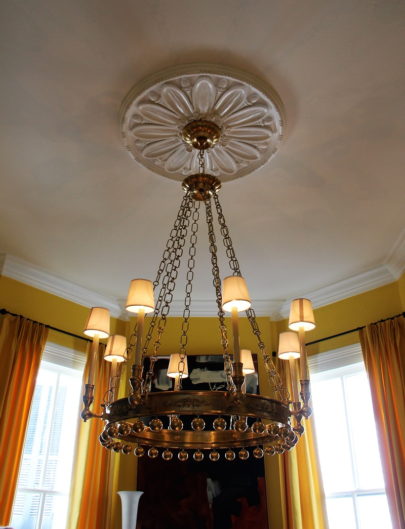 Traditional Home's Southern Style Now Showhouse in New Orleans, Dining Room by William McLure, Circa Lighting Chandelier