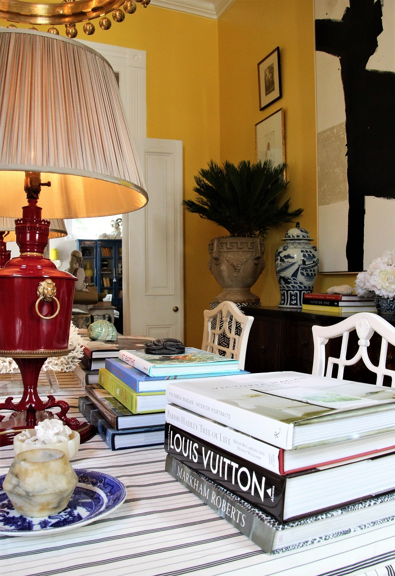 Traditional Home's Southern Style Now Showhouse in New Orleans, Dining Room by William McLure, with view to Family Room