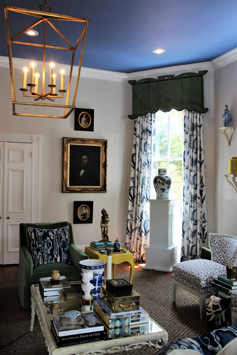 Traditional Home's Southern Style Now Showhouse in New Orleans, Family Room by Parker Kennedy, GPJBaker Drapery Panel Fabric