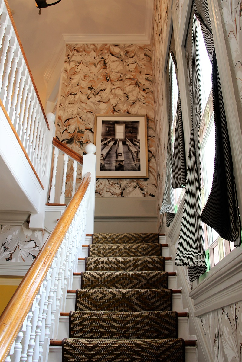 Traditional Home's Southern Style Now Showhouse in New Orleans, Stairwell by Melissa Rufty, Stair Runner by Stark Carpet