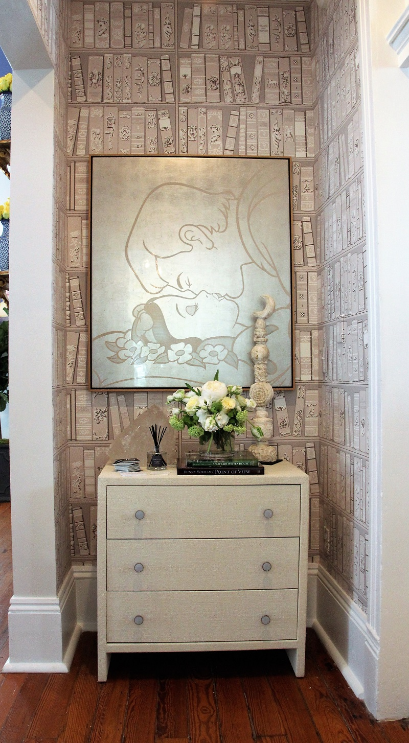 Traditional Home's Southern Style Now Showhouse in New Orleans, Vestibule by Shaun Smith, Artwork by artist Blake Boyd