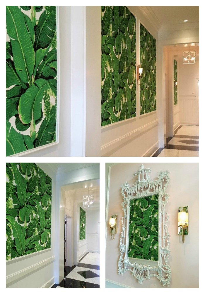 Garden House at Southern Hotel, Hallway, eclectic classic glamour, Dorothy Draper wallpaper