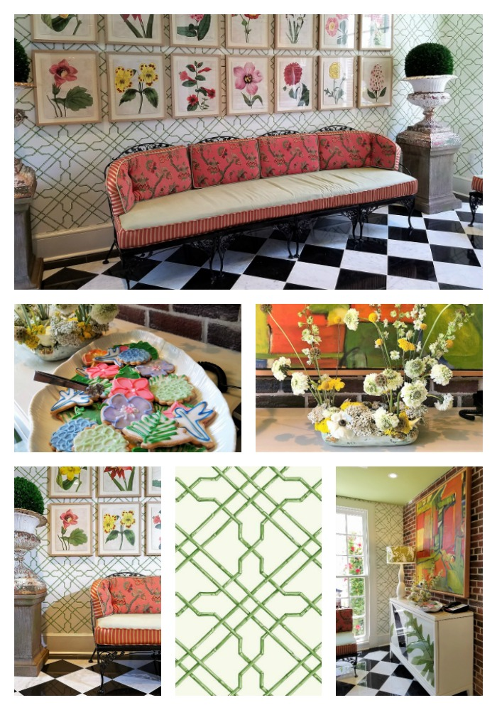 Garden House at Southern Hotel, Sitting Area, eclectic classic glamour, Dorothy Draper inspired
