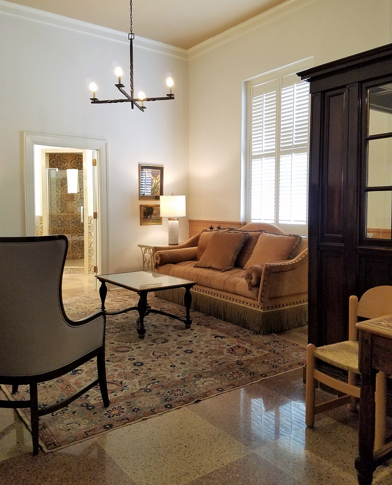 Garden House of Southern Hotel, Xavier Gonzales Suite, Sitting Area with Knole Sofa, eclectic
